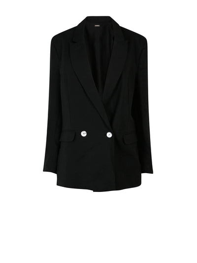 Releve Fashion Oramai London Black Nomade Suit Jacket Ethical Designers Sustainable Fashion Brands Eco-Age Brandmark Purchase with Purpose Shop for Good