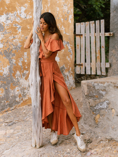 Releve Fashion Oramai London Terra Cartagena Linen Summer Dress Ethical Designers Sustainable Fashion Brands Eco-Age Brandmark Purchase with Purpose Shop for Good