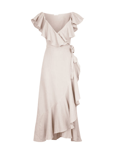 Releve Fashion Oramai London Pink Cartagena Linen Summer Dress Ethical Designers Sustainable Fashion Brands Eco-Age Brandmark Purchase with Purpose Shop for Good
