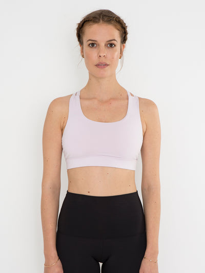 Releve Fashion Pama London Lavender Chakra Bra Ethical Designers Sustainable Fashion Brand Activewear Athleticwear Athleisure Yoga Positive Fashion Purchase with Purpose Shop for Good