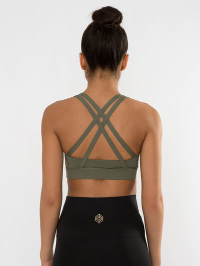 Releve Fashion Pama London Green Chakra Bra Ethical Designers Sustainable Fashion Brand Activewear Athleticwear Athleisure Yoga Positive Fashion Purchase with Purpose Shop for Good