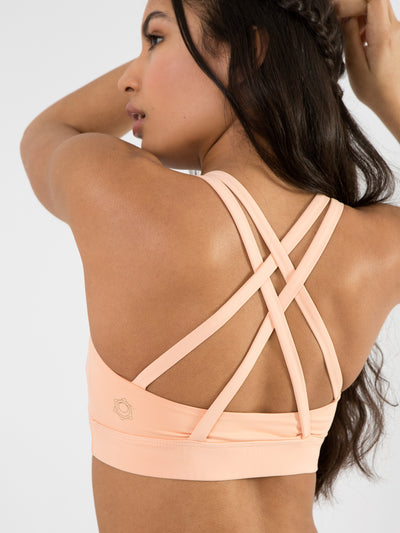 Releve Fashion Pama London Orange Chakra Bra Ethical Designers Sustainable Fashion Brand Activewear Athleticwear Athleisure Yoga Positive Fashion Purchase with Purpose Shop for Good