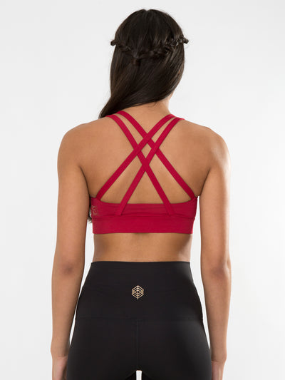 Releve Fashion Pama London Red Chakra Bra Ethical Designers Sustainable Fashion Brand Activewear Athleticwear Athleisure Yoga Positive Fashion Purchase with Purpose Shop for Good