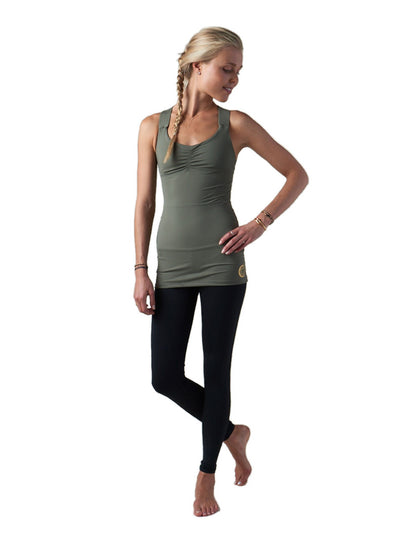 Releve Fashion Pama London Green Chakra Top Ethical Designers Sustainable Fashion Brand Activewear Athleticwear Athleisure Yoga Positive Fashion Purchase with Purpose Shop for Good