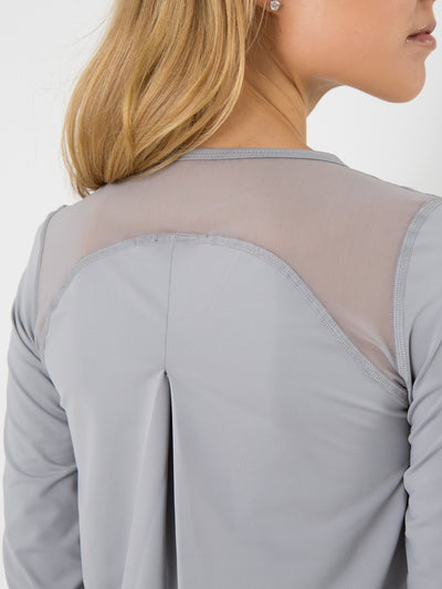 Releve Fashion Pama London Grey Malibu Top Ethical Designers Sustainable Fashion Brand Activewear Athleticwear Athleisure Yoga Positive Fashion Purchase with Purpose Shop for Good