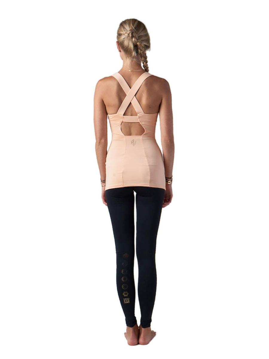 Releve Fashion Pama London Orange Chakra Top Ethical Designers Sustainable Fashion Brand Activewear Athleticwear Athleisure Yoga Positive Fashion Purchase with Purpose Shop for Good