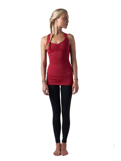 Releve Fashion Pama London Red Chakra Top Ethical Designers Sustainable Fashion Brand Activewear Athleticwear Athleisure Yoga Positive Fashion Purchase with Purpose Shop for Good