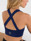 Releve Fashion Pama London Energy Sports Bra Dark Blue Legging Ethical Designers Sustainable Fashion Brand Activewear Athleticwear Athleisure Yoga Positive Fashion Purchase with Purpose Shop for Good
