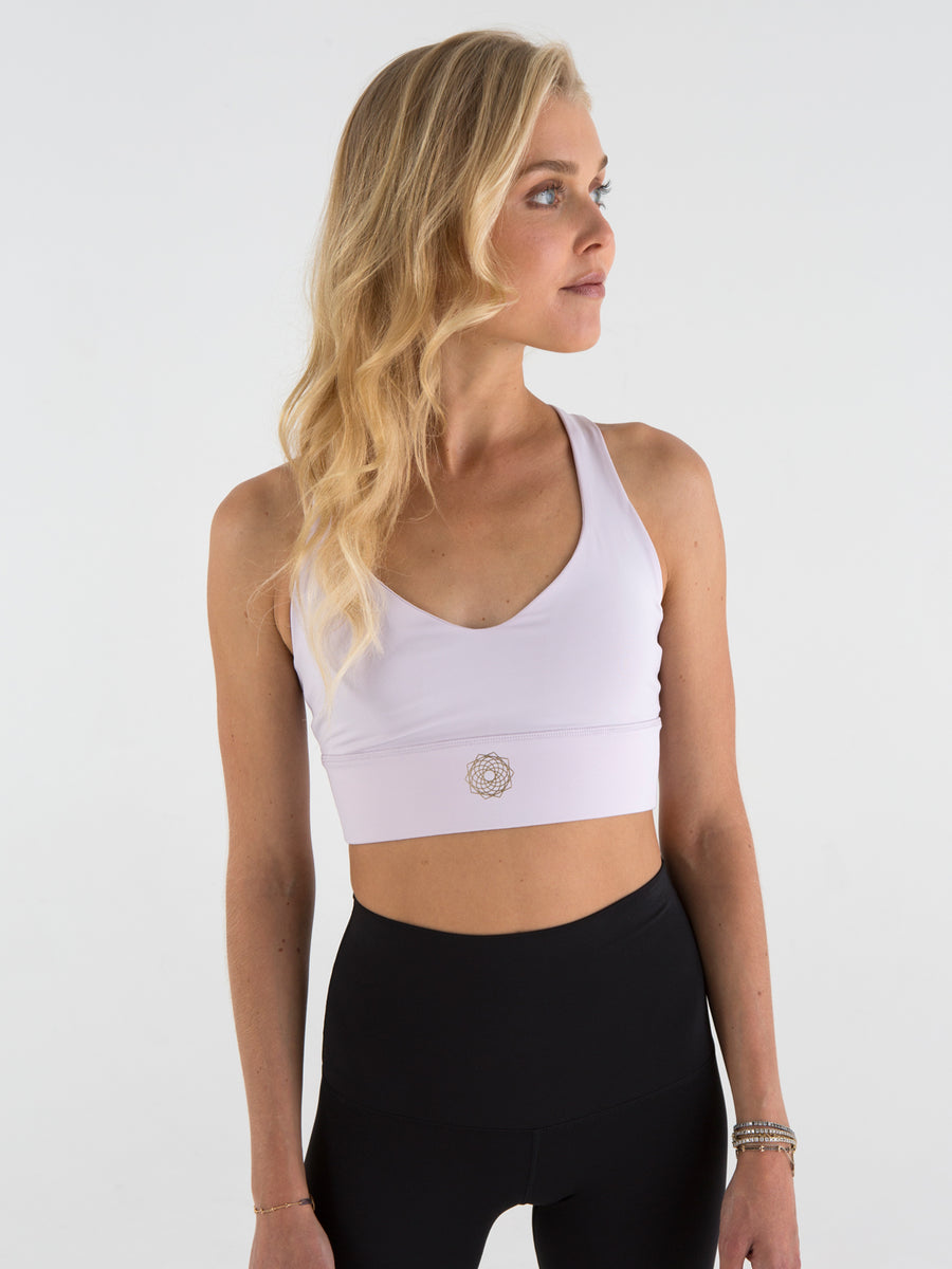 Releve Fashion Pama London Energy Sports Bra Lavender Legging Ethical Designers Sustainable Fashion Brand Activewear Athleticwear Athleisure Yoga Positive Fashion Purchase with Purpose Shop for Good