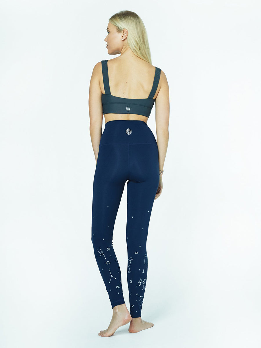 Astrology Leggings, Deep Navy