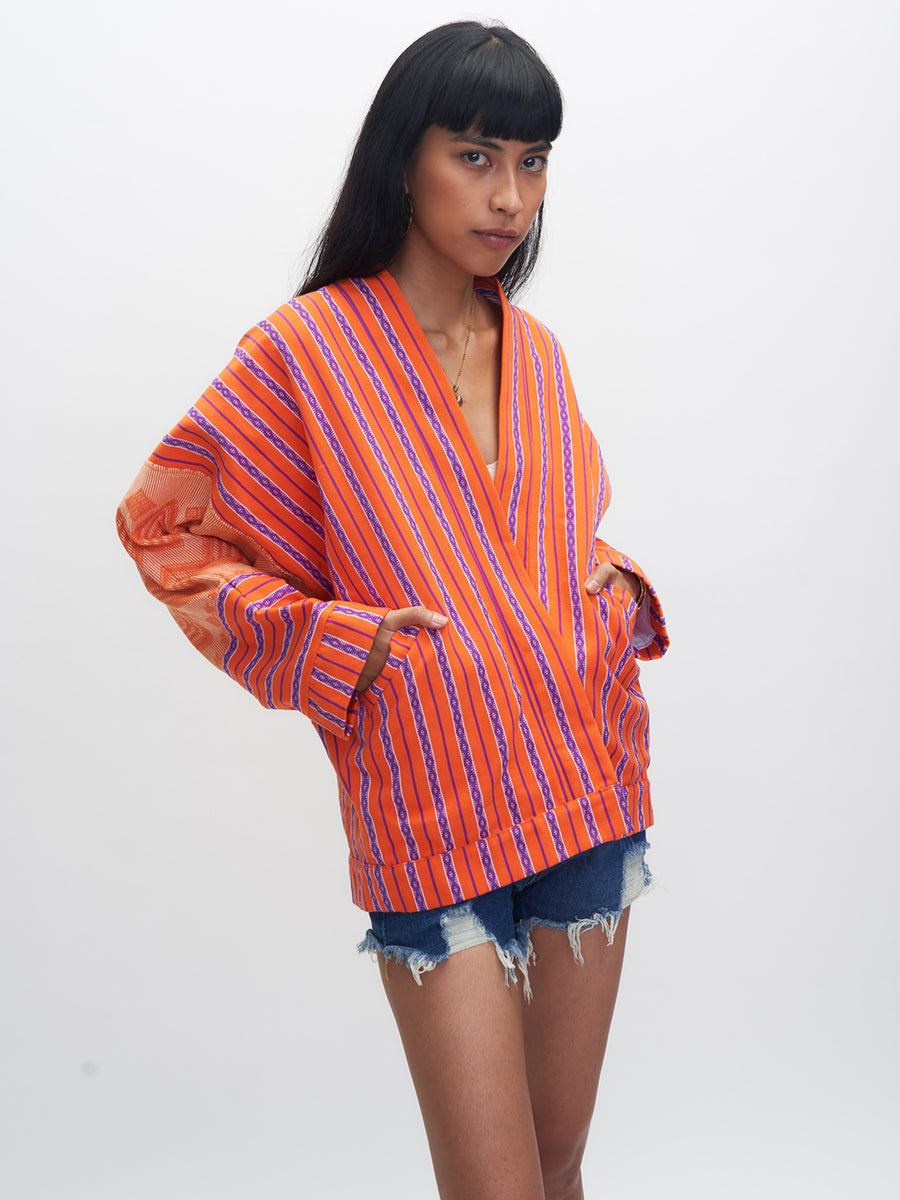 Kabayanihan Jacket, Orange and Purple