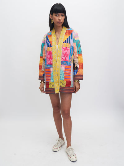 Releve Fashion Piopio Makulay Jacket Multicolour Ethical Designer Sustainable Fashion Brand Handmade Artisan Clothing Purchase with Purpose Shop for Good