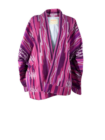 Releve Fashion Piopio Kabayanihan Jacket Pink Ikat Ethical Designer Sustainable Fashion Brand Handmade Artisan Clothing Purchase with Purpose Shop for Good