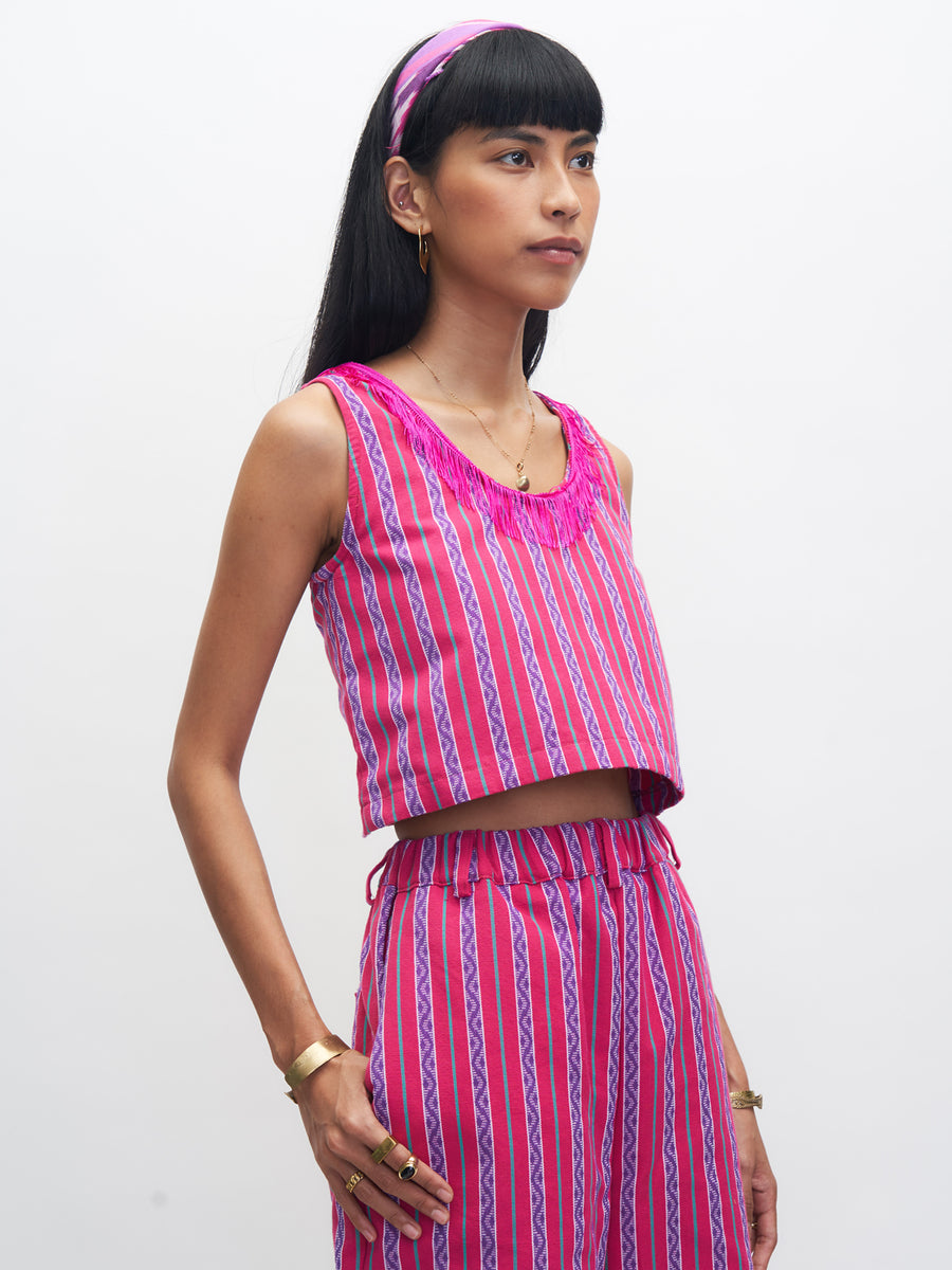 Releve Fashion Piopio Baguio Set Pink Purple Ethical Designer Sustainable Fashion Brand Handmade Artisan Clothing Purchase with Purpose Shop for Good