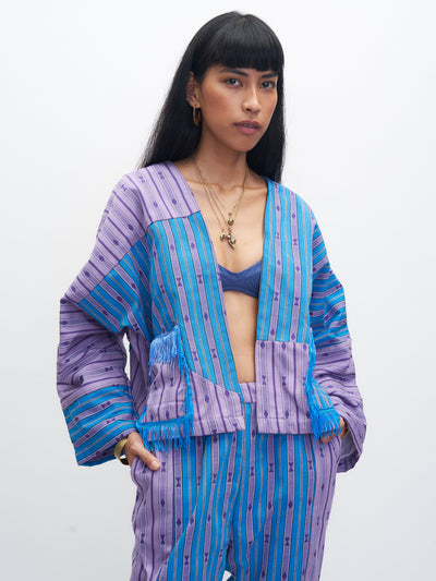 Releve Fashion Piopio Sagada Set Aqua Lilac Ethical Designer Sustainable Fashion Brand Handmade Artisan Clothing Purchase with Purpose Shop for Good