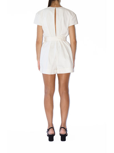 Releve Fashion Port Zienna White Verona Romper Sustainable Luxury Fashion Conscious Clothing Ethical Designer Brand Eco Design Innovative Materials Purchase with Purpose Shop for Good