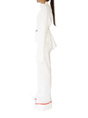 Releve Fashion Port Zienna White Neo Organic Cotton Waffle Knit Palazzo Pants Sustainable Luxury Fashion Conscious Clothing Ethical Designer Brand Eco Design Innovative Materials Purchase with Purpose Shop for Good
