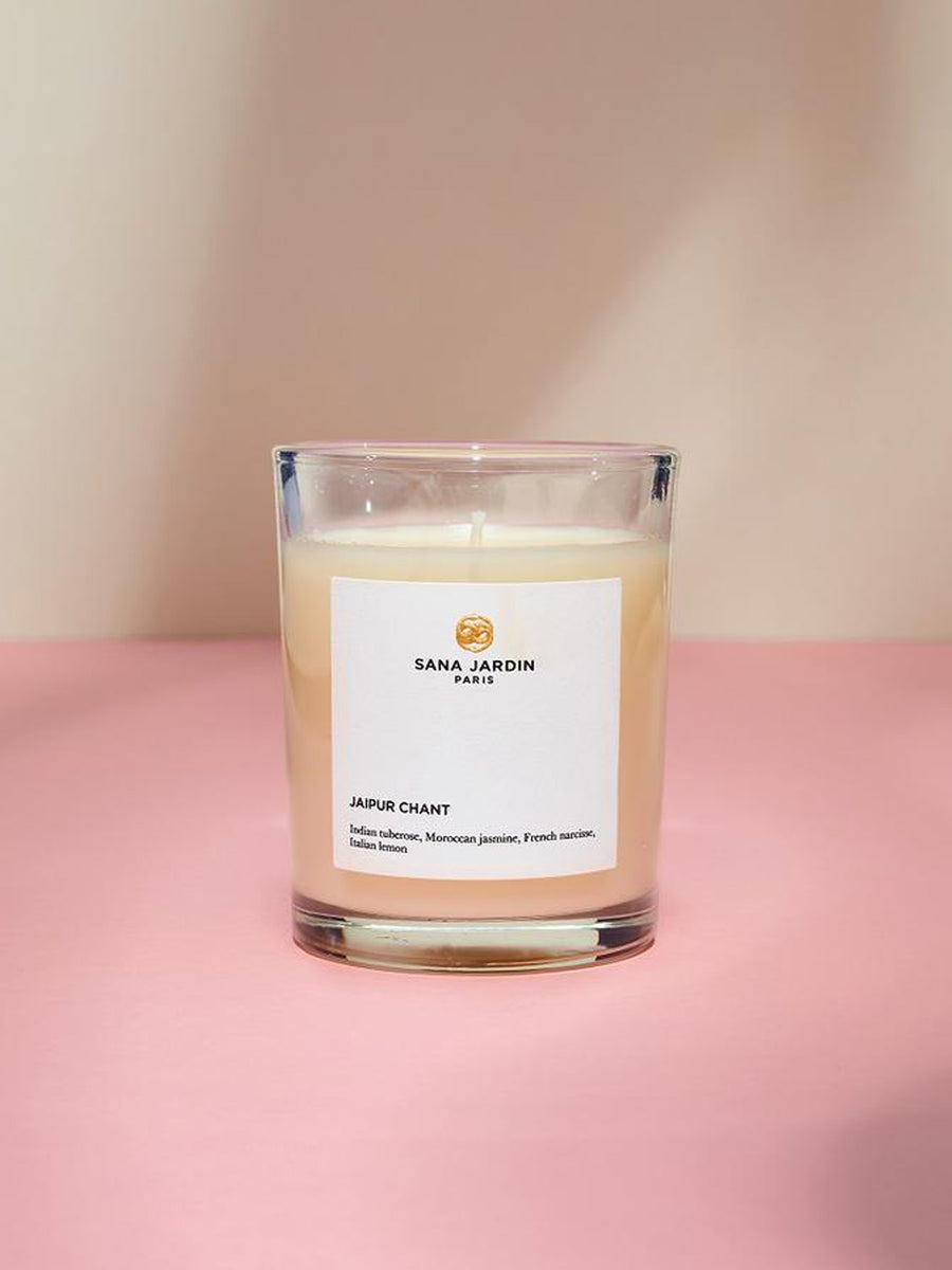 Releve Fashion Sana Jardin Scented Candle Jaipur Chant Ethical Designer Sustainable Socially Conscious Lifestyle Brand Positive Luxury Butterfly Mark Purchase with Purpose Shop for Good