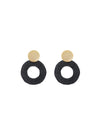 Releve Fashion Soli & Sun Gold and Black Fran Earrings Ethical Designers Sustainable Fashion Brands Purchase with Purpose Shop for Good