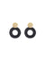 Fran Earrings, Gold / Black