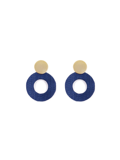 Releve Fashion Soli & Sun Gold and Blue Fran Earrings Ethical Designers Sustainable Fashion Brands Purchase with Purpose Shop for Good