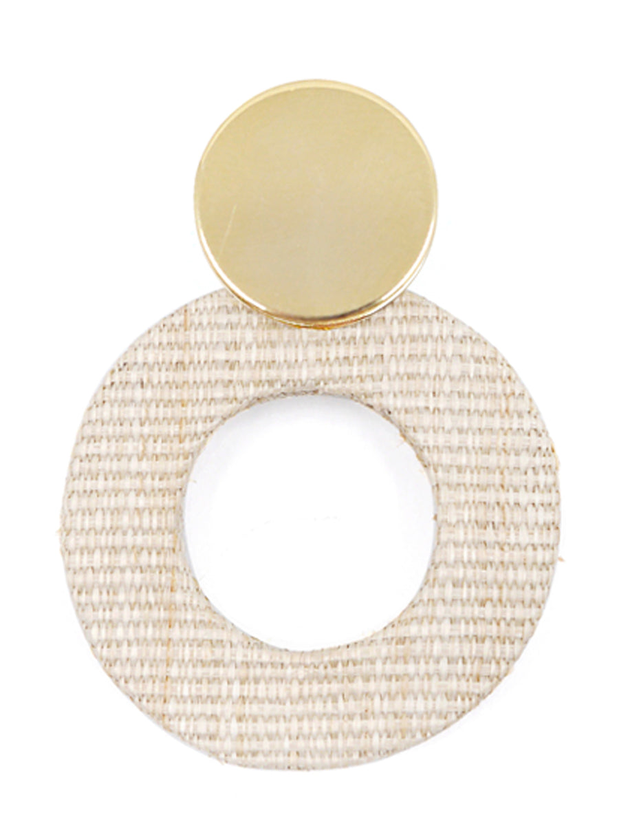 Fran Earrings, Gold / Cream