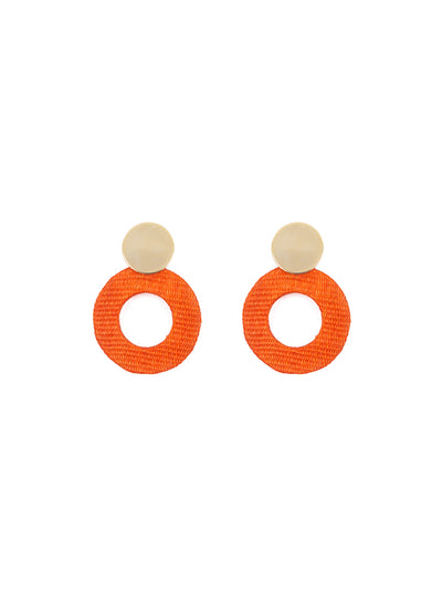 Releve Fashion Soli & Sun Gold and Orange Fran Earrings Ethical Designers Sustainable Fashion Brands Purchase with Purpose Shop for Good