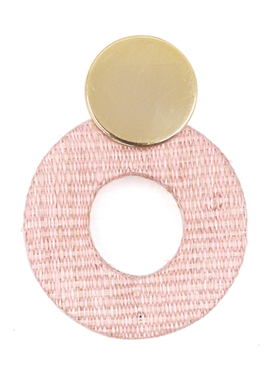 Fran Earrings, Gold / Pink