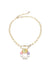 Thea Chain Necklace, Gold / White / Rainbow