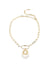 Thea Chain Necklace, Gold / White