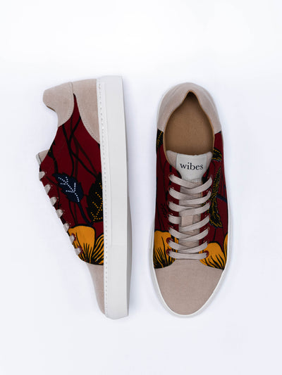 Releve Fashion Wibes Akwaba Hibiscus Shoes Trainers Sneakers Ethical Designers Sustainable Fashion Brands Purchase with Purpose Shop for Good