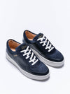 Releve Fashion Wibes Blue and White Retro Sassandra Trainers Sneakers Ethical Designers Sustainable Fashion Brands Purchase with Purpose Shop for Good