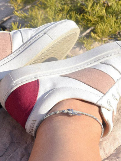 Releve Fashion Wibes White Fuchsia and Beige City Elegant Trainers Sneakers Ethical Designers Sustainable Fashion Brands Purchase with Purpose Shop for Good