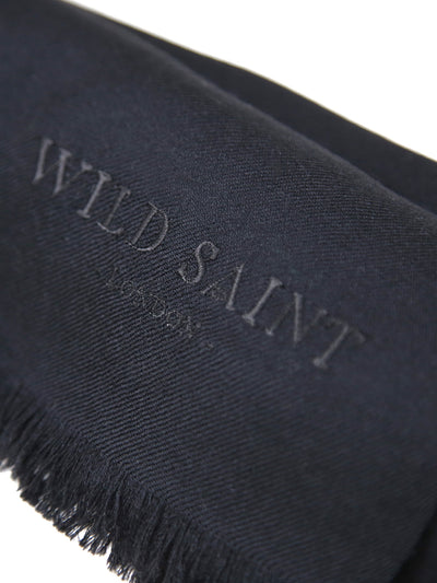 Releve Fashion Wild Saint London Black Lightweight 100% Cashmere Scarf Sustainable Luxury Fashion Conscious Clothing and Accessories Ethical Designer Brand Animal-friendly Cruelty-free Handcrafted Purchase with Purpose Shop for Good