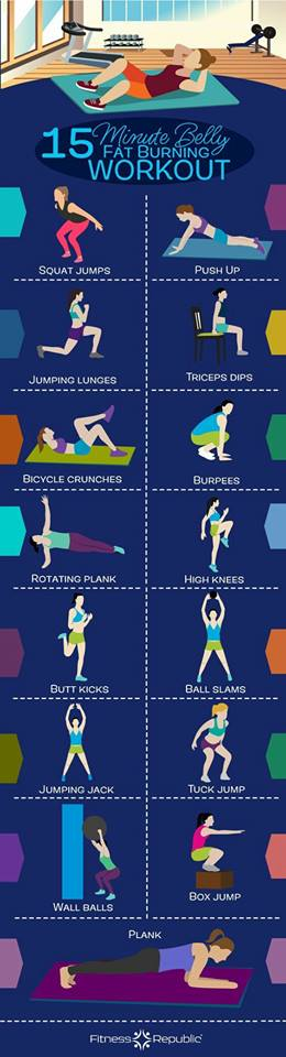 15 Minute Belly Fat Burning Workout