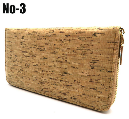 Natural Cork Handmade Women Zipper Purse - Comes in Different Colours!