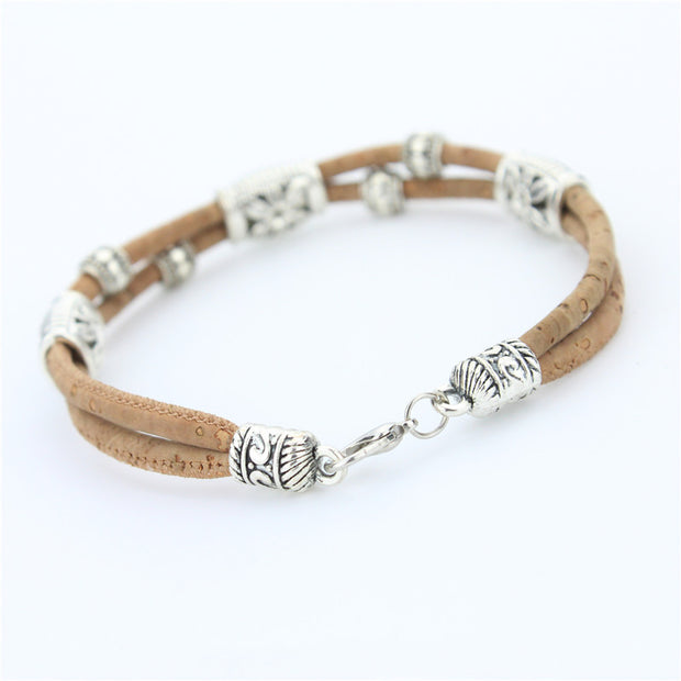 Natural Cork Dainty Flower Bracelet - Understated Elegance!