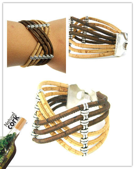 Natural Cork Handmade Bracelet - Weaving through Time and Space!