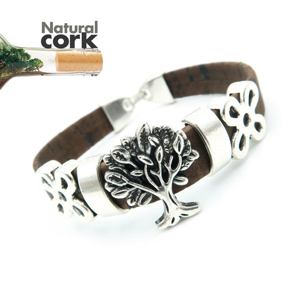 Natural Cork Tree of Life Bracelet - Popular!