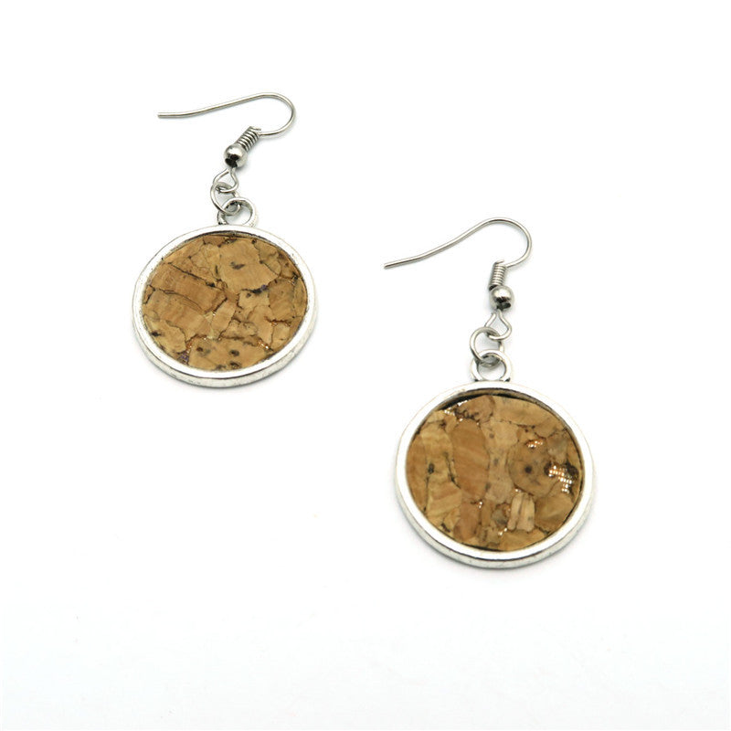 Natural Cork Women Drop Earrings - Nature Look!