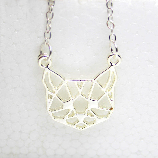 cute-origami-cat-pendant-necklace-2-colours-silver