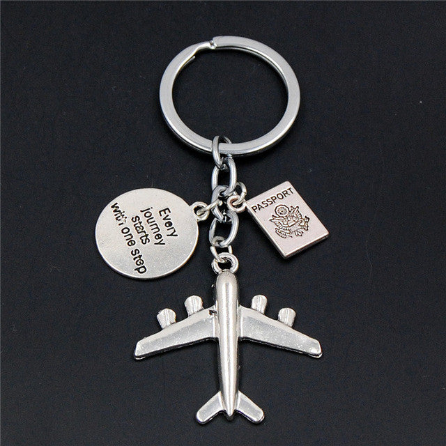 earth-airplane-keychains-no-matter-where-pendant-travel-keyring-friendship-best-friend-jewelry-diy-handmade-friends