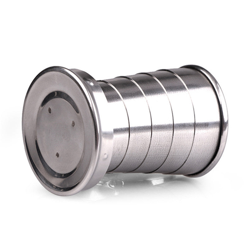 Mini Cup: Foldable Stainless Steel Water Bottle - 75ml