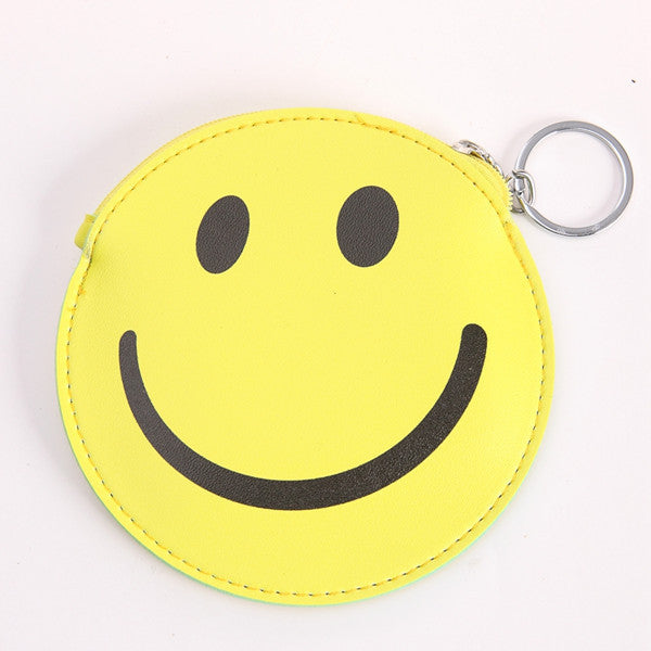 funny-cartoon-mini-wallet-girls-keychain-card-holders-leather-bus-camera-smile-lipstick-zipper-change-wallet-childern-purse-smiley