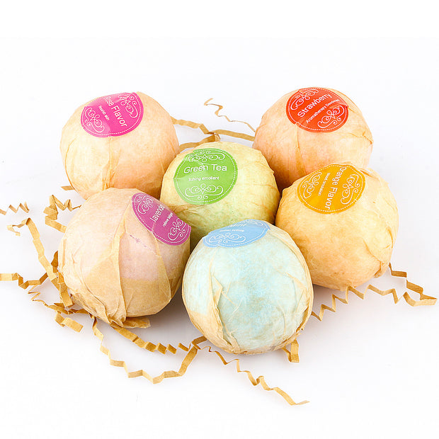 Organic Bath Bombs Bubble Bath Salts Ball -  6 pcs