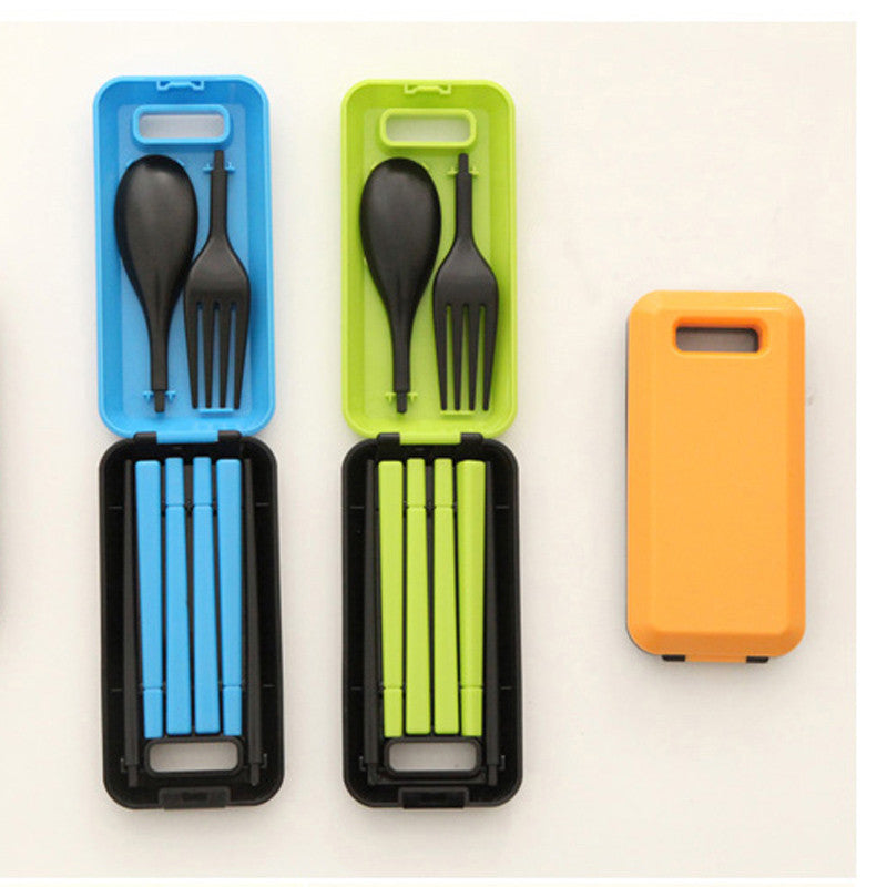 Portable Folding Tableware - Cutlery, Fork, Chopsticks Set For Kids
