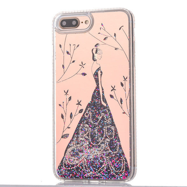 dreams-love-sparkle-quicksand-glitter-liquid-iphone-covers-rose