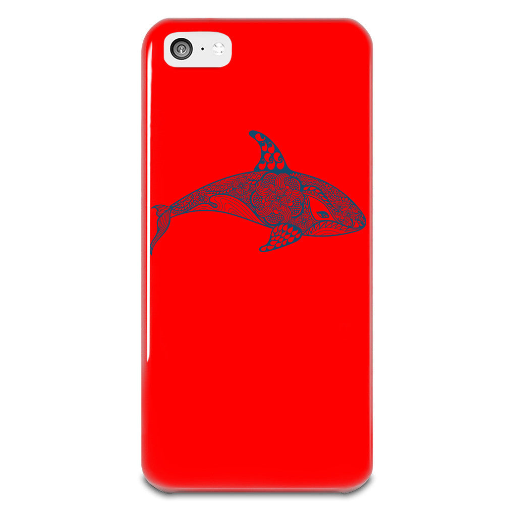 killer-whale-iphone-5-5s-plastic-case-red