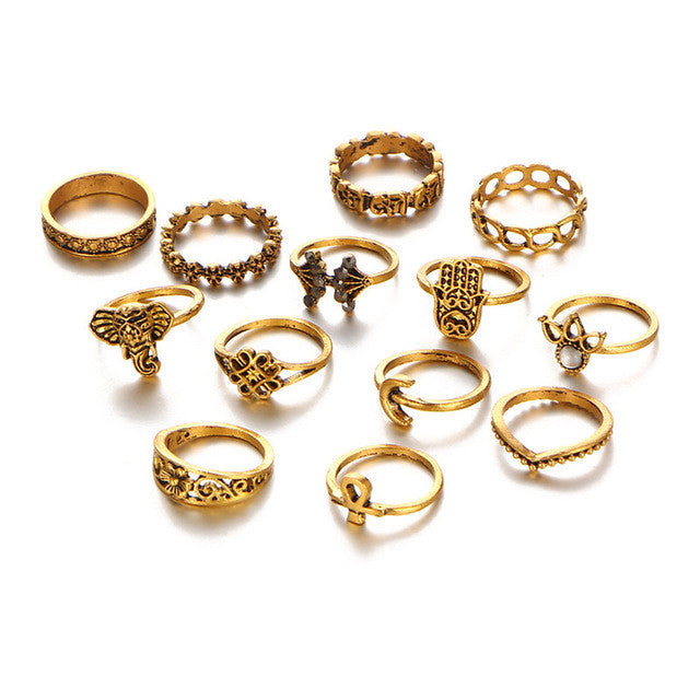 Retro Boho Midi Rings Sets For Women - 6 Designs!