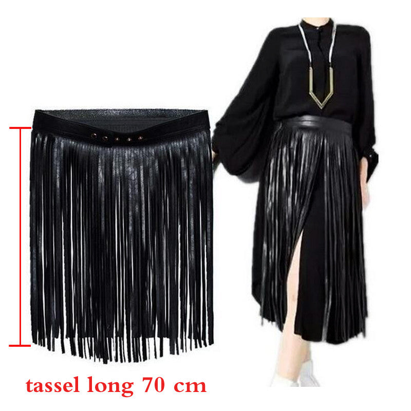 bohemian-high-waist-wide-fringe-tassel-belt-for-women-bdsm-black-skirt